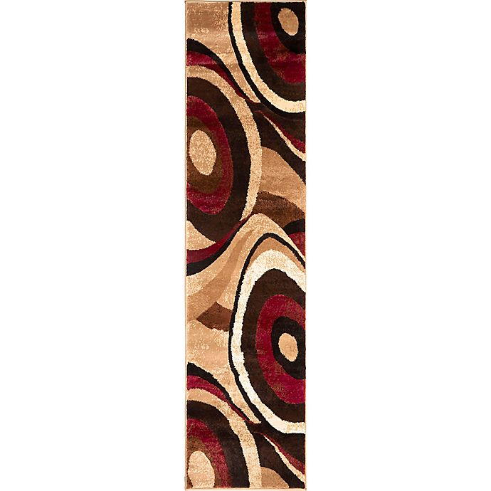 Alternate image 1 for Home Dynamix Tribeca 1-Foot 9-Inch x 7-Foot 2-Inch Runner in Brown/Red
