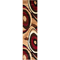 Home Dynamix Tribeca 1-Foot 9-Inch x 7-Foot 2-Inch Runner in Brown/Red