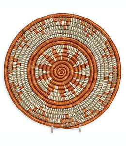 Plato tejido de 35 cm en naranja