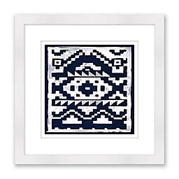 Indigo 20-Inch Square Framed Wall Art