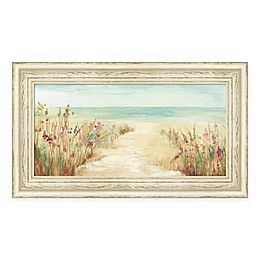 Amanti Art By The Beach 26-Inch x 15-Inch Framed Canvas Wall Art