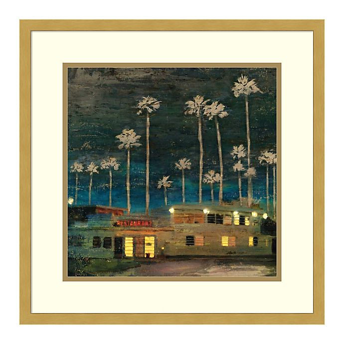 Alternate image 1 for Amanti Art Palm Sunset by PI Studio  20 -Inch Square Framed Wall Art