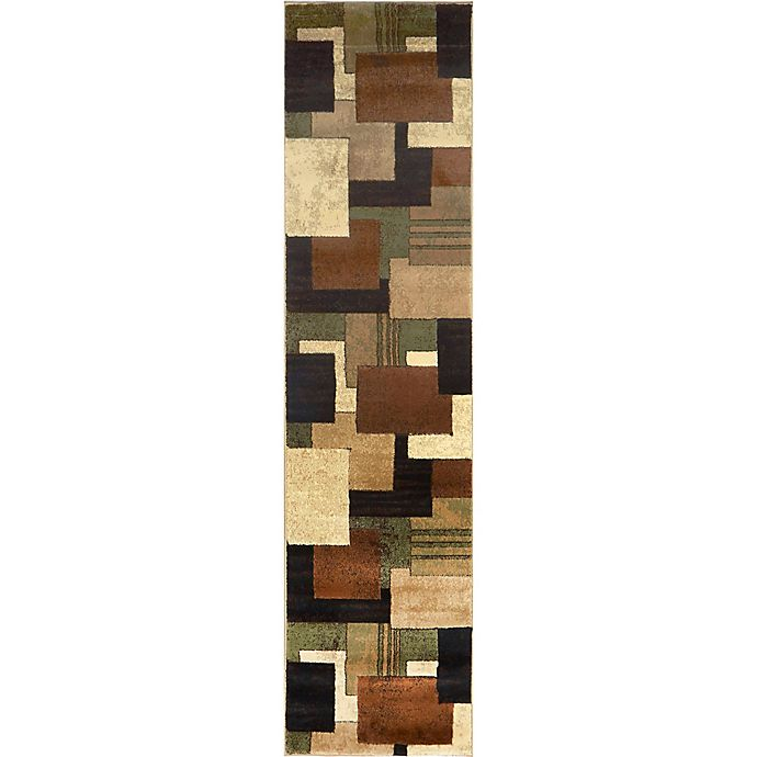 Alternate image 1 for Home Dynamix Tribeca Box 1-Foot 9-Inch x 7-Foot 2-Inch Rug in Brown/Green