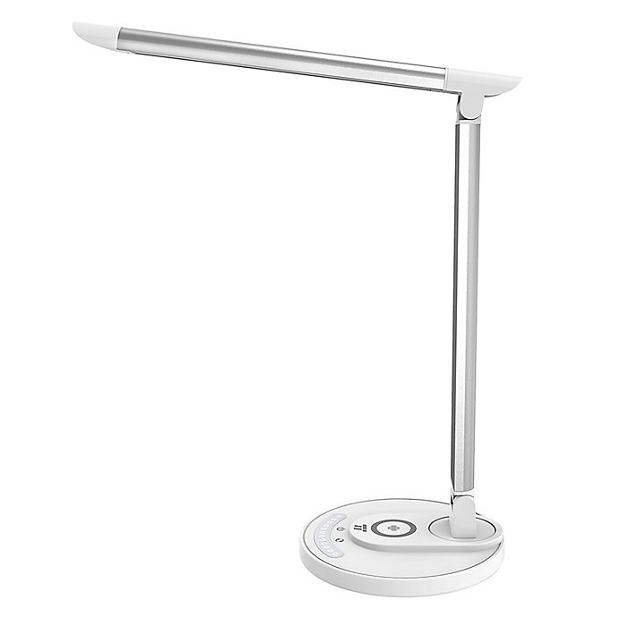 Alternate image 1 for TaoTronics Qi Wireless Charging LED Desk Lamp in White