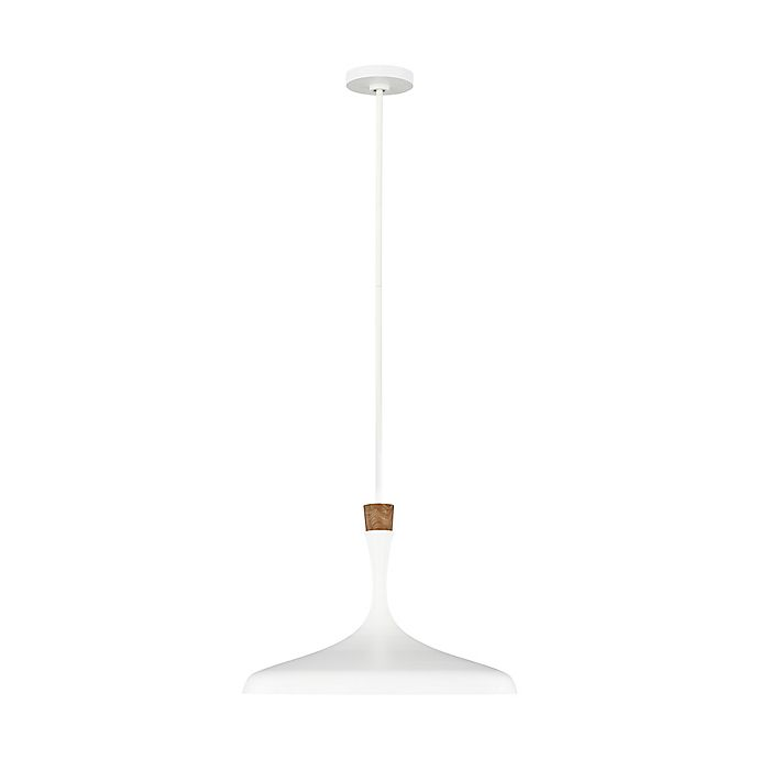 Alternate image 1 for ED Ellen DeGeneres Darwin 1-Light Downrod Mount Pendant Light in Matte White
