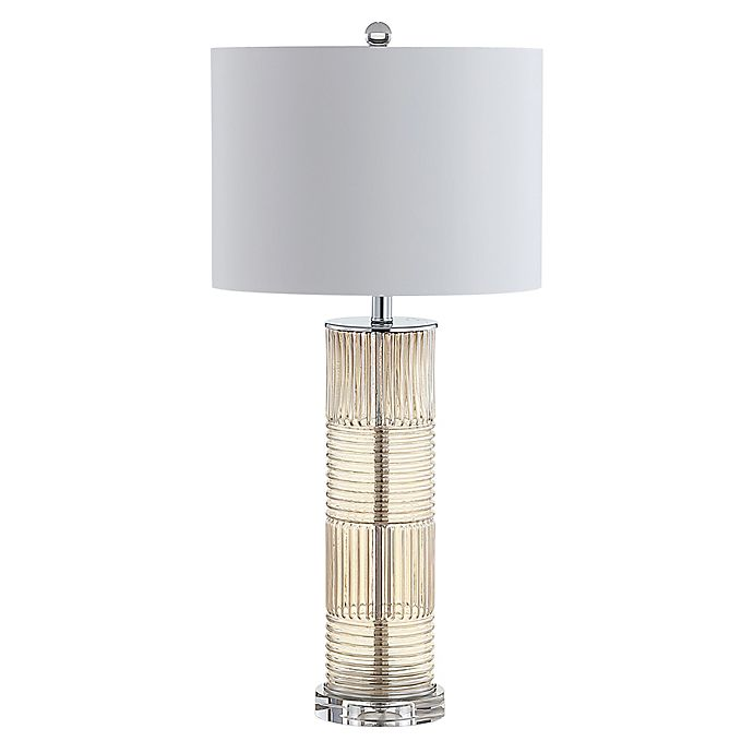 Jonathan Y Genevieve 30 Quot Glass Crystal Led Table Lamp In