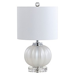 "JONATHAN Y Pearl 17.5"" Glass/Crystal LED Table Lamp"