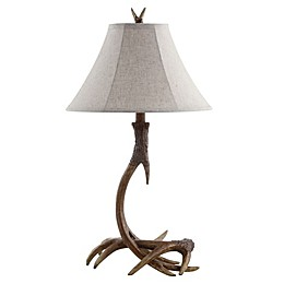 JONATHAN Y Antler Rustic Resin LED Table Lamp in Brown