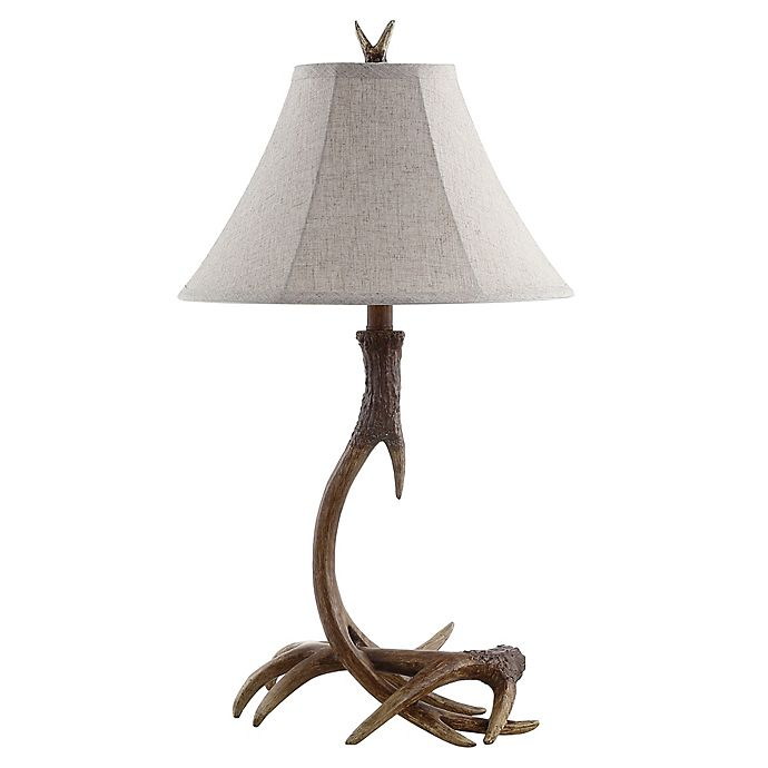 Alternate image 1 for JONATHAN Y Antler Rustic Resin LED Table Lamp in Brown