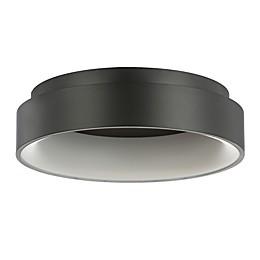 "JONATHAN Y Ring 17.7"" Integrated LED Metal Flush Mount Ceiling Light"
