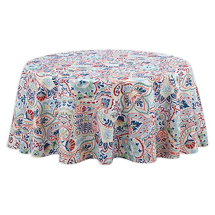 Alternate image 1 for Kastoria 60-Inch Round Tablecloth in Red