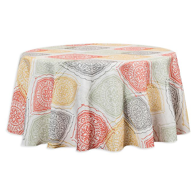 Alternate image 1 for Sullivan 70-Inch Round Indoor/Outdoor Tablecloth
