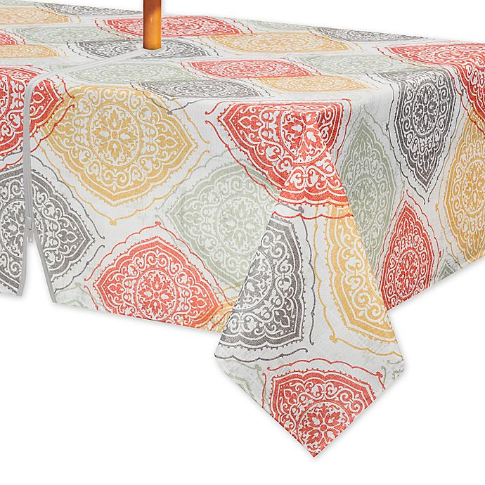Alternate image 1 for Arlee Home Fashions® Sullivan 60-Inch x 84-Inch Oblong Tablecloth with Umbrella Hole