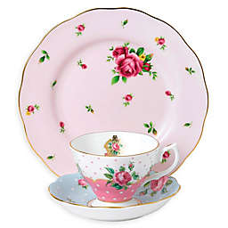Royal Albert Vintage Mix Cheeky Pink 3-Piece Place Setting