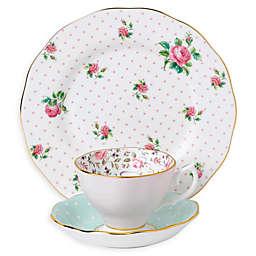 Royal Albert Vintage Mix Rose Confetti 3-Piece Place Setting