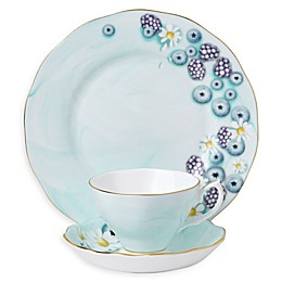 Royal Albert Alpha Foodie 3-Piece Place Setting in Turquoise
