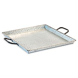 Hammered Metal Square Serving Tray