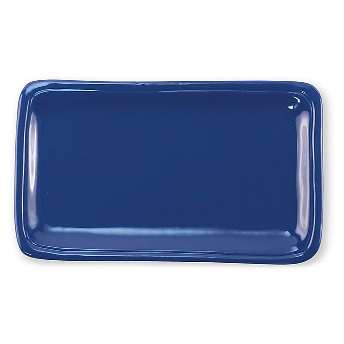 Alternate image 1 for viva by VIETRI Fresh 12-Inch Rectangular Platter in Marine Blue