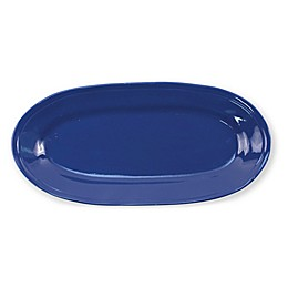 viva by VIETRI Fresh 16.25-Inch Narrow Oval Platter in Marine Blue