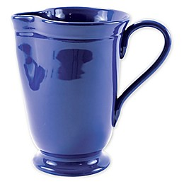 viva by VIETRI Fresh Large Footed Pitcher in Marine Blue
