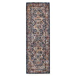 Bee & Willow™ Home Ashbrook 2'3 x 7' Runner in Navy/Ivory