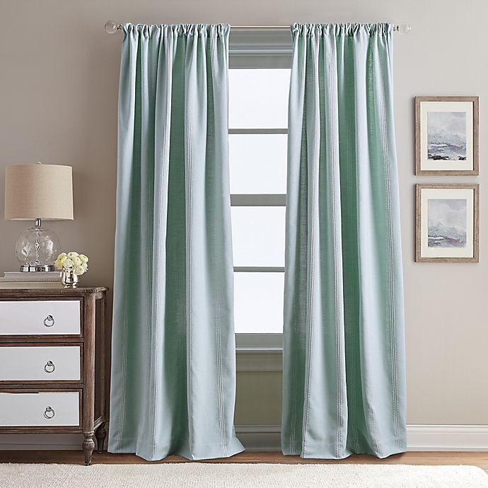 Alternate image 1 for Peri Home Eastman 95-Inch Rod Pocket Window Curtain Panel in Aqua