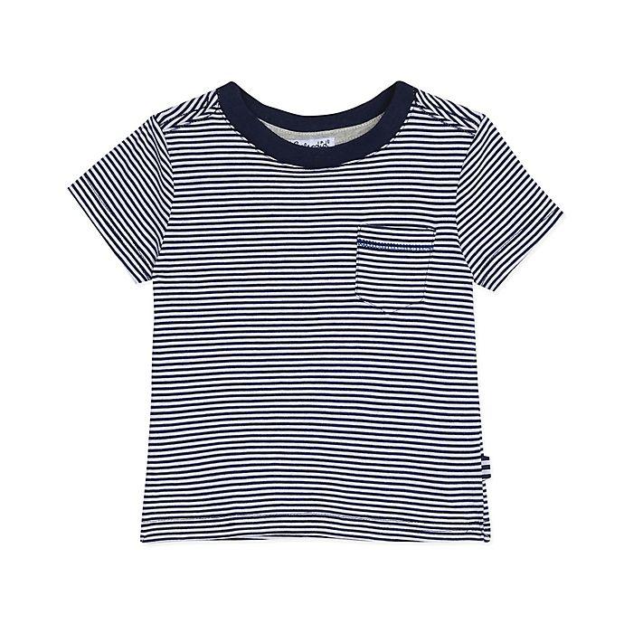 Alternate image 1 for Splendid® Size 18-24M Microstripe Shirt in Navy