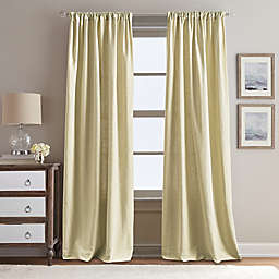 Peri Home Eastman 84-Inch Rod Pocket Window Curtain Panel in Gold