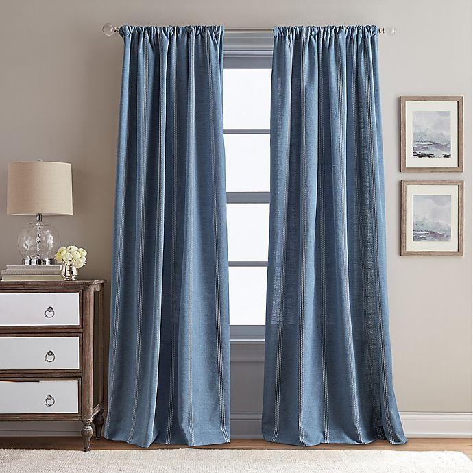 Alternate image 1 for Peri Home Eastman Rod Pocket Window Curtain Panel