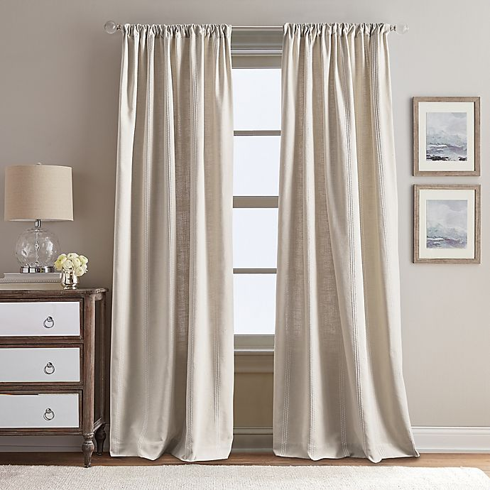 Alternate image 1 for Peri Home Eastman 84-Inch Rod Pocket Window Curtain Panel in Linen