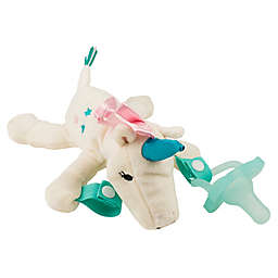 Dr. Brown's® Unicorn Lovey Pacificer and Teether Holder in White