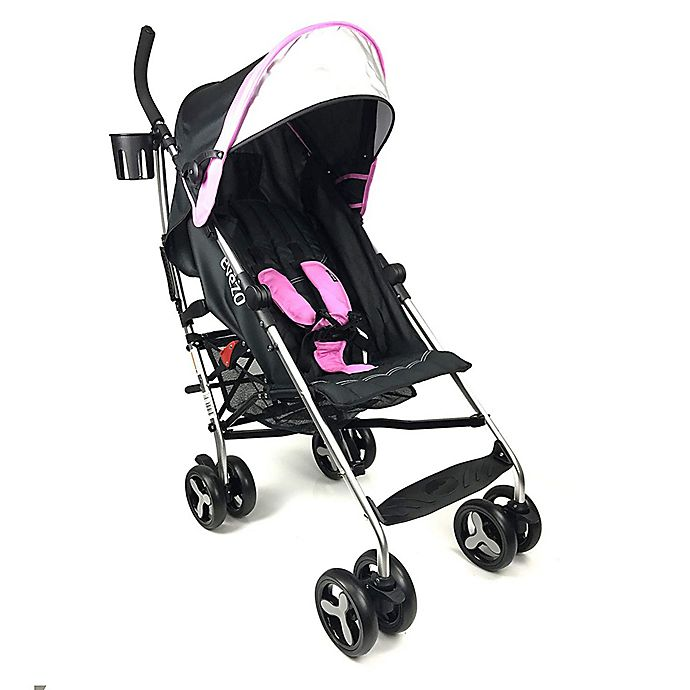 Alternate image 1 for Evezo Maxord Lightweight Umbrella Stroller in Pink