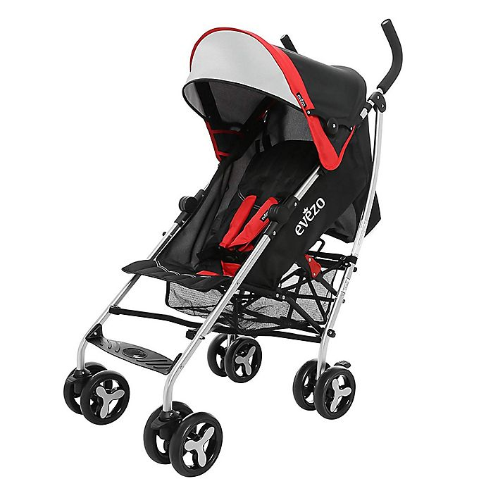 Alternate image 1 for Evezo Maxord Lightweight Umbrella Stroller in Red