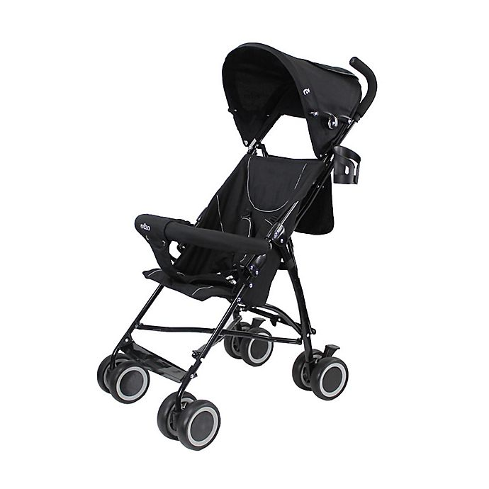 Alternate image 1 for Evezo Sander Lightweight Umbrella Stroller in Black
