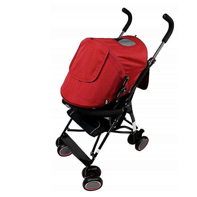 Alternate image 1 for Evezo Sander Lightweight Umbrella Stroller in Red