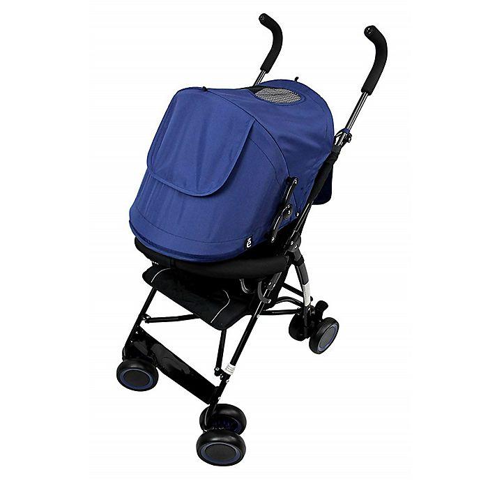 Alternate image 1 for Evezo Sander Lightweight Umbrella Stroller in Blue