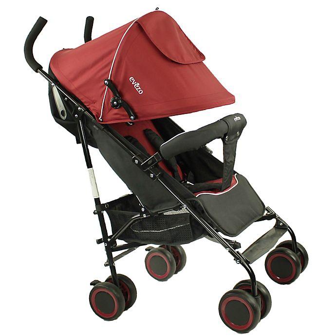 Alternate image 1 for Evezo Travis Lightweight Umbrella Stroller in Red
