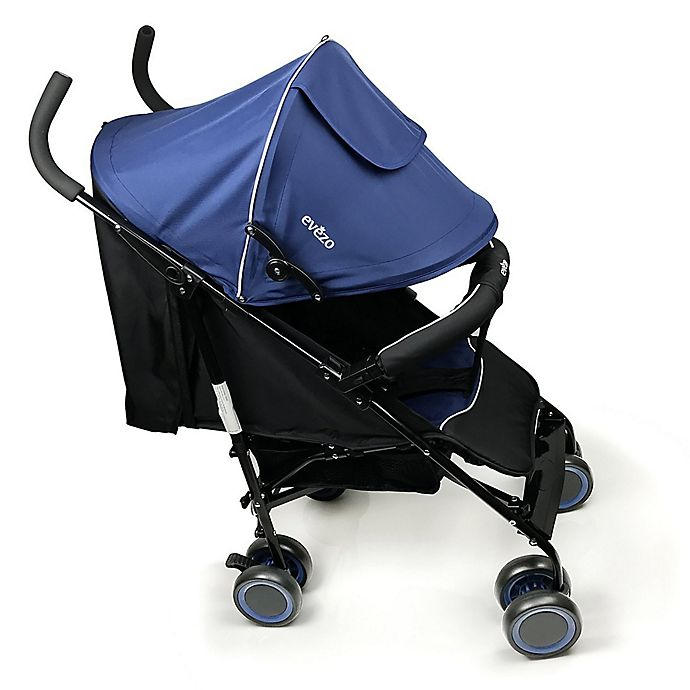 Alternate image 1 for Evezo Travis Lightweight Umbrella Stroller in Blue