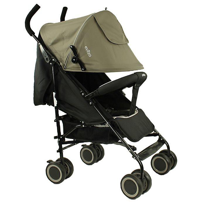 Alternate image 1 for Evezo Travis Lightweight Umbrella Stroller in Grey