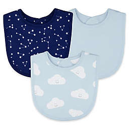 Sterling Baby 3-Pack Constellation Cloud Double Sided Bibs in Blue
