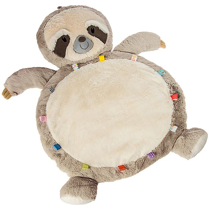 Alternate image 1 for Mary Meyer Sloth Baby Playmat in White/Tan