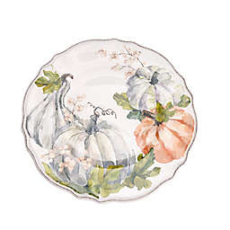 Pumpkin Dinner Plate in Cream