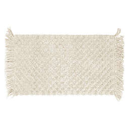 """French Connection Arta Beaded 17"""" x 24"""" Bath Rug in Ivory"""