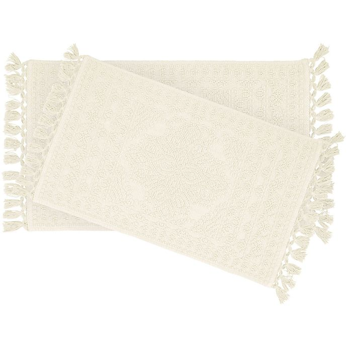 Alternate image 1 for Nellore 2-Piece Bath Rug Set in Ivory