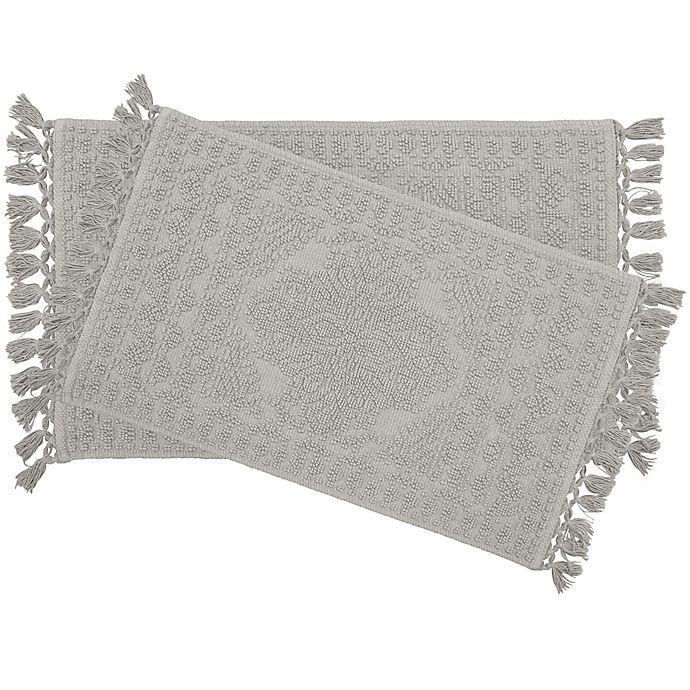 Alternate image 1 for Nellore 2-Piece Bath Rug Set in Medium Grey