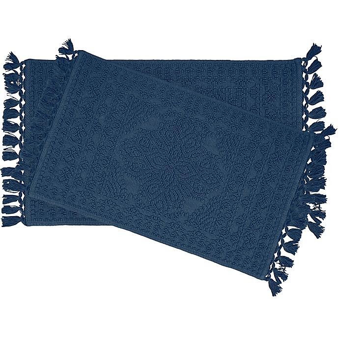 Alternate image 1 for Nellore 2-Piece Bath Rug Set in Navy