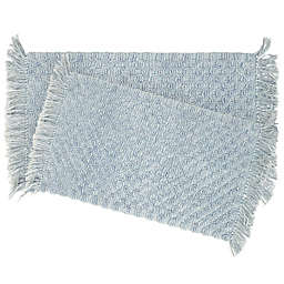 French Connection Stonewash Beaded 2-Piece Bath Rug Set