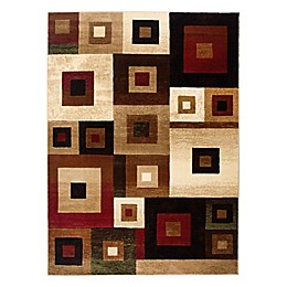 Home Dynamix Tribeca Squares 9-Foot 2-Inch x 12-Foot 5-Inch Area Rug