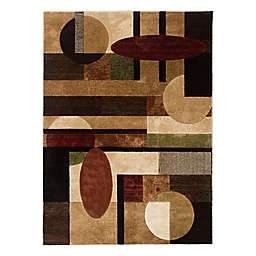Home Dynamix Tribeca Ovals and Lines 9-Foot 2-Inch x 12-Foot 5-Inch Area Rug