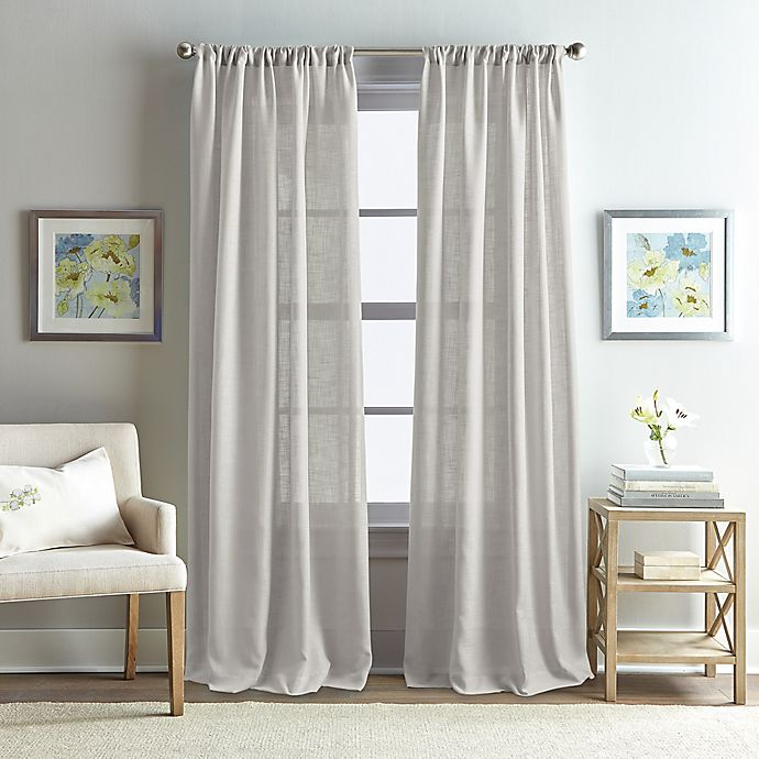 Alternate image 1 for Rose Garden Solid 84-Inch Rod Pocket Window Curtain Panel in Grey
